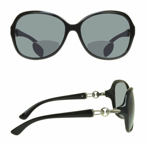 Womens Plastic BIFOCAL Sunglasses Fashion Bow Design Dark Tinted Reading Glasses