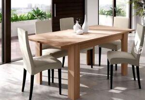 Mesa-de-comedor-extensible-2-posiciones-Madera-Roble-Recibidor-Cocina