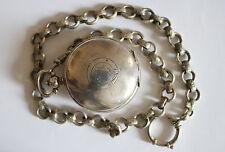 Antique Oris Ottoman Bronze Silvered Roskopf Pocket Watch with Chain Beautiful