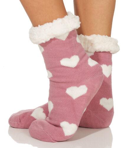 Hüttensocken Kuschelsocken Damen Strümpfe ABS Socken Hausschuhe warm 368