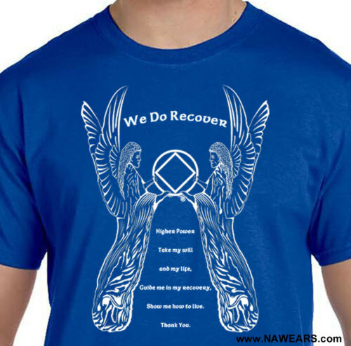 Narcotics Anonymous Cotton S-4X NA ANGELS 3rd STEP PRAYER Select Your Color