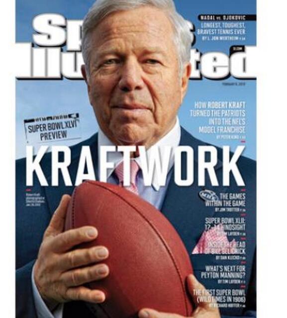 2012 Robert Kraft New England Patriots No Label Sports Illustrated