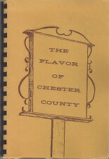 *ELK *CHATHAM PA 1982 FLAVOR OF CHESTER COUNTY COOK BOOK *JUNIOR WOMEN'S CLUBS