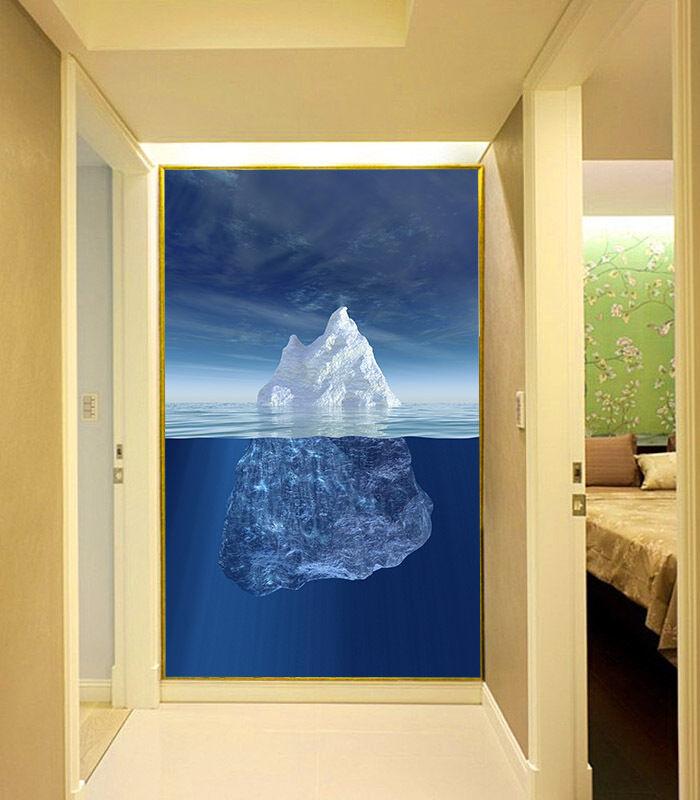 3D Ghiacciaio 4 Parete Murale Foto Carta da parati immagine sfondo muro stampa