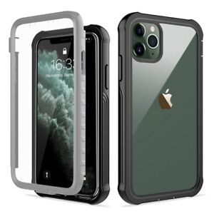 360-Full-Protective-Case-Heavy-Duty-Armor-Clear-Phone-Cover-For-iPhone-11-XR-XS