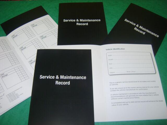 Service Book Car History Handbook Blank BMW Series 1 3 4 5 6 7 X1 3 Replacement