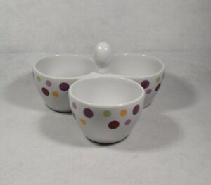 Pampered-Chef-Simple-Additions-Dots-Bowl-Trio-2078-Three-Part-Candy-Condiment