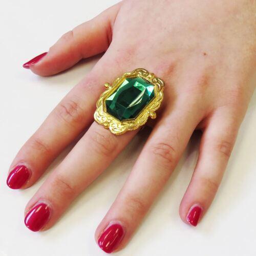 Plastic Ring Fancy Dress Accessory Gem Jewel Pirate Steam Punk Victorian Cosplay