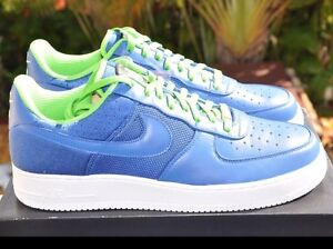 e02081afa58 Nike Air Force 1 Low Supreme Air Huarache Royal Blue Scream Green DS ...