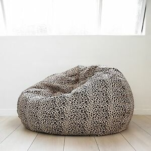 Marvelous Details About Fur Beanbag Large Leopard Print Cloud Chair Soft Velvet Safari Bean Bag Tv Seat Ocoug Best Dining Table And Chair Ideas Images Ocougorg