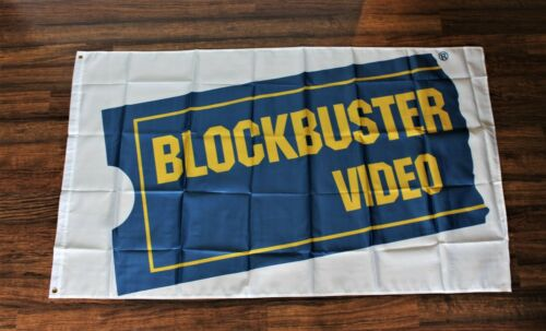 New Blockbuster Video Banner Flag 3x5 Movie Rental Store Retro Man Cave Theater
