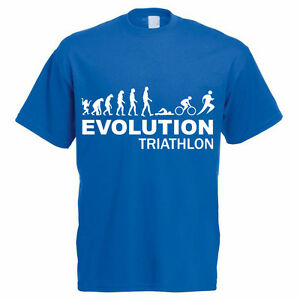 102cc72962b5 Caricamento dell'immagine in corso EVOLUTION-Triathlon-Swim-MOTO-Esegui- Regalo-FUNNY-sport-