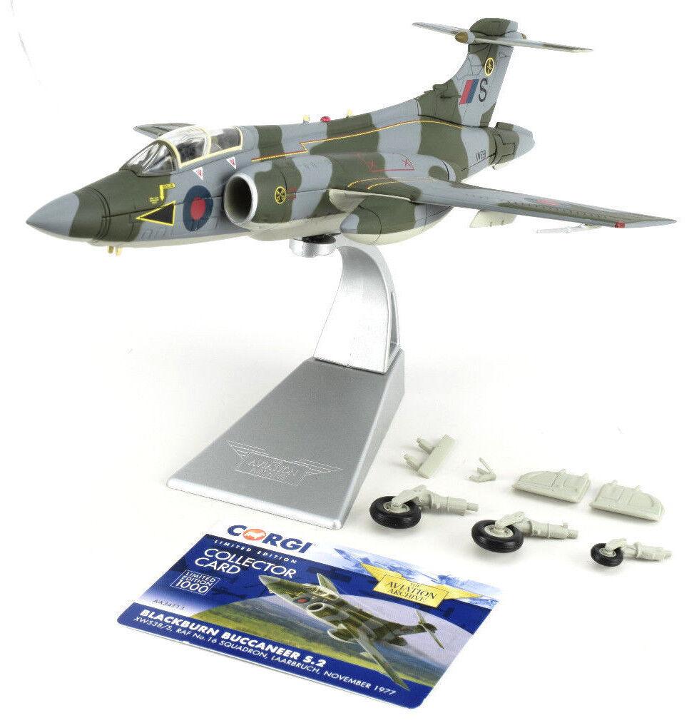 Corgi neroburn Buccaneer S. 2-Noviembre 1977 1 72 Die-Cast Avión Aa34113