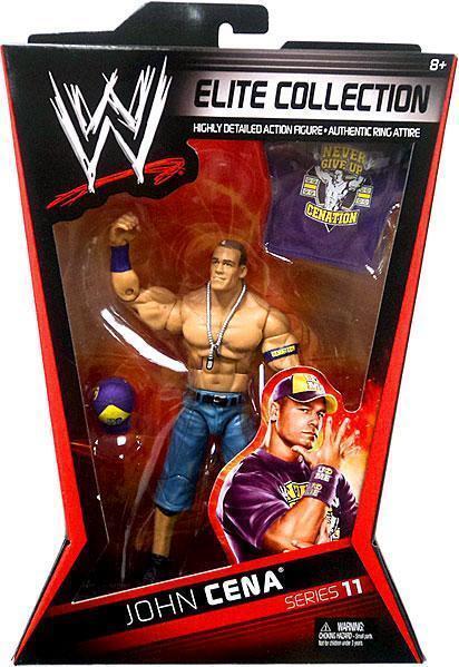 WWE JOHN CENA BUILD ELITE SERIES 11 CAP MATTEL SERIES WRESTLING ACTION FIGURE