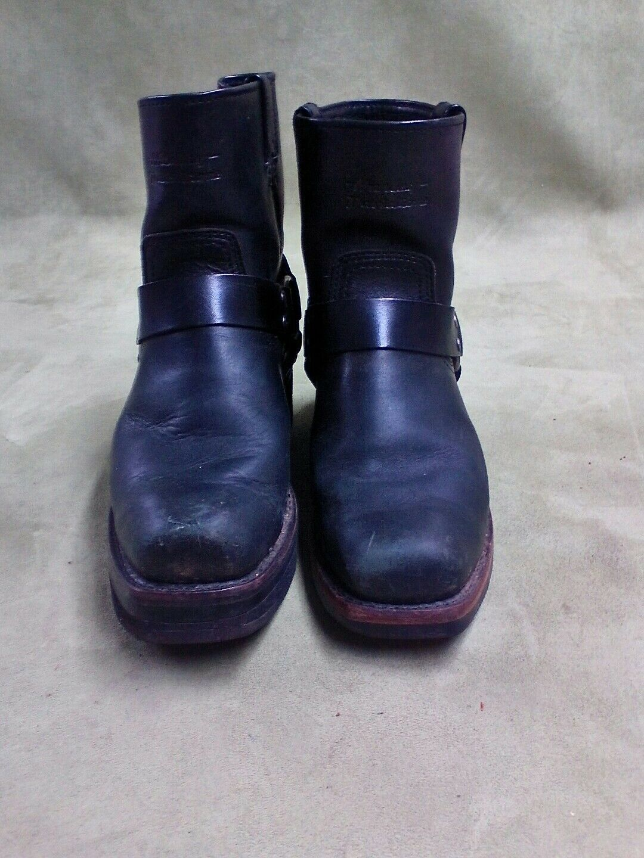 Para Hombre botas Arnés Negro Harley Davidson Scout 94335 planteado Talón Derecho