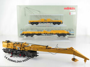 CS35-AC-DIGITAL-MARKLIN-49950-Set-Eisenbahn-Kran-Goliath-mit-Digital-Funktione