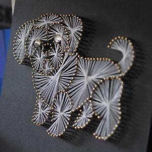 Diy Dog String Art Crafts Kit For Kids Children Handmade Painting Wall Decor Ebay