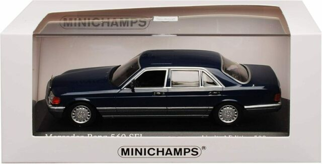1:43 Minichamps Mercedes 560 SEL W126 1990 darkblue-metallic