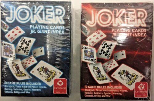 BLUE CARTAMUNDI JOKER Playing Cards Jr Giant Index