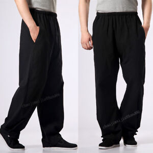 Bruce Arts Wing 100 Cotton Lee Casual Kung Pants Shaolin Martial Chun Fu Men IY8Rq8p