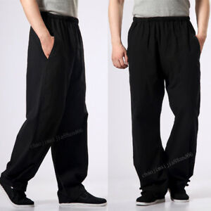 Arts Wing Men Fu Martial Lee Kung Casual Shaolin Bruce 100 Chun Cotton Pants Bw18WI