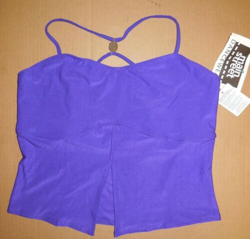 NWT Split front camisole crisscross top shelflined Ladies L//XL great ex support
