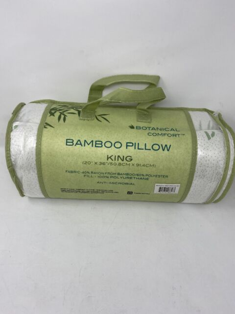 White Amrapur Overseas Bamboo Memory Foam Pillow Pack of 2 Queen