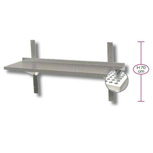 Shelf 200x30x4 Single shelf perforated stainless steel kitchen restaurant pizzer