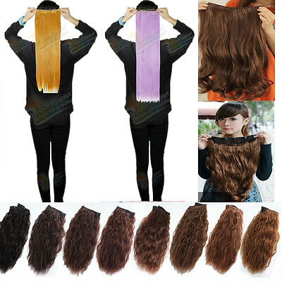 clip in hair extensions half full head natural long thick for human favored Q2