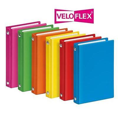 VELOFLEX  A7 Ringordner 4-Ring, Ordner A7 Color Taschenringbuch VELOCOLOR 1174