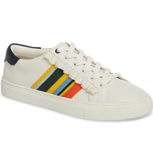 Tory Burch Ruffle Leather Sneaker in