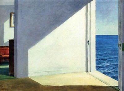 """Rooms By The Sea by Edward Hopper, 8""""x11"""", Giclee Canvas Print"""