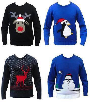 NEU FRECH gestrickt Herren Damen Lustiges Weihnachten Pullover Sweatshirt Retro