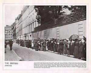 1914 Imprimé Première Guerre Mondiale ~ Britannique Embassy Paris ~ Britons KvjLVhWR-09084343-581470256