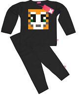 Kids Childrens Boys StampyLongNose StampyLongHead Stampy Pyjamas Pajamas (Black)
