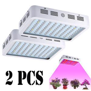 2 PCS 1000W Full Spectrum Hydro Grow Light Medical Indoor Plant Fruit Bloom Lamp