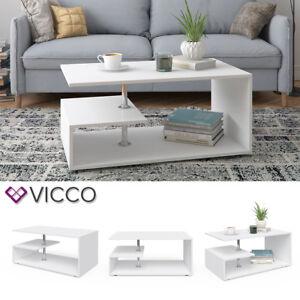 Vicco Couchtisch Guillermo In weiß - Wohnzimmer Sofatisch Kaffeetisch
