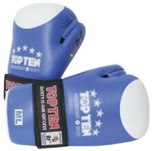 TOP TEN ITF GLOSS POINTFIGHTER GLOVES BLUE SPARRING TRAINING