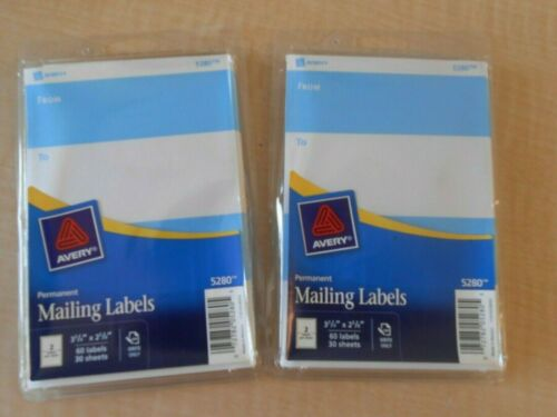 2 PACKS MAILING LABEL 3 3//4 X 2 5//8 AVERY 5280