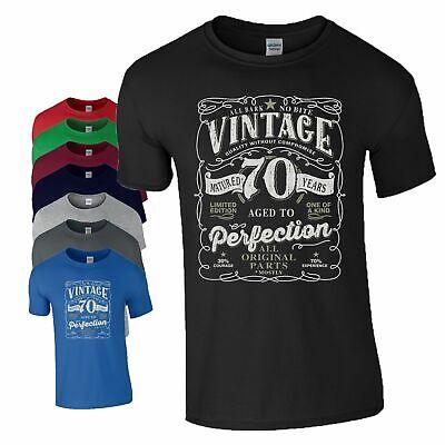Mens Cotton Birthday T-Shirt CLASSIC 1950 ALL ORIGINAL PARTS