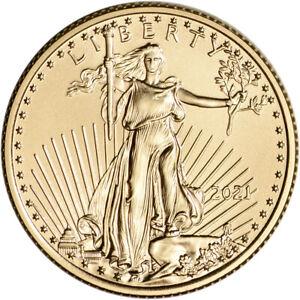 2021 American Gold Eagle 1/4 oz $10 - BU