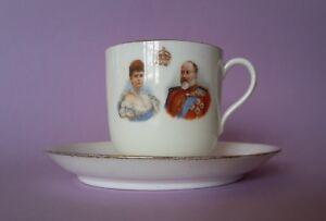 Kompetent Royal Doulton Burslem Coronation 1902 King Edward Tasse Mit Untertasse Antik