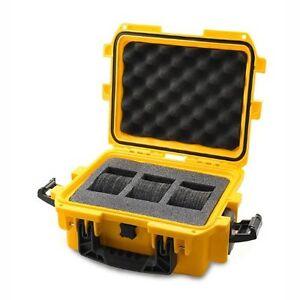 Invicta-Three-Slot-Yellow-Durable-Yellow-Plastic-Watch-Case-DC3YEL