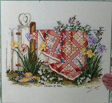 PAULA VAUGHAN'S GARDEN OF EDEN FLORAL COUNTED CROSS STITCH SAMPLER KIT W/COA