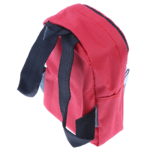 Mini Girl Doll Zippered Backpack for 18inch American Doll Accessories Red