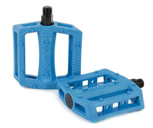SHADOW RAVAGER PC PLASTIC PEDALS BMX BIKE 9//16 FIT HARO SE CULT SUBROSA BLUE NEW