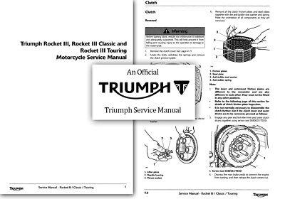 TRIUMPH ROCKET III 3 WORKSHOP FACTORY SERVICE REPAIR MANUAL