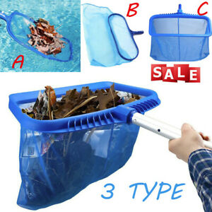 Pro-Heavy-Duty-Leaf-Rake-Mesh-Frame-Net-Skimmer-Cleaner-Swimming-Pool-Spa-Tool