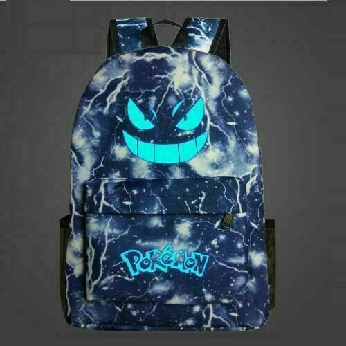 Kids Boys Pokemon Backpack Galaxy Rucksack Gengar Travel Shoulder School Bags UK