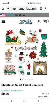 CREATIVE MEMORIES Esprit de Noël 50 Die Cut Embellissements 45 Gemstone